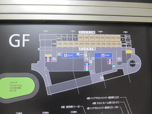 中山競馬場のゴンドラ階のマップ