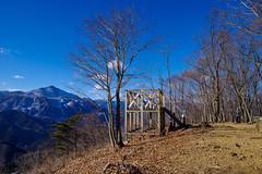 日向山山頂の展望台