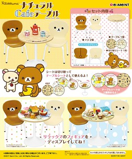 RE-MENT【拉拉熊的造型咖啡桌】該喝下午茶囉!!リラックマ ナチュラルCafeテーブル