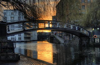 Sunset on the Regent's Canal at Camden, London