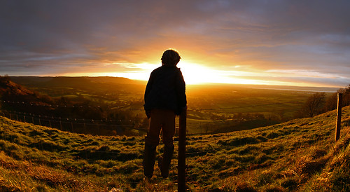 severn valley sunset view escarpment cotswolds gloucestershire