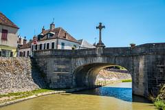 Memorial Cross on Bridge in Châtillon-en-Bazois