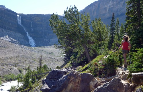 Hiking to Bow Glacier Falls