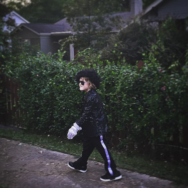 Yes, you can dress up as Michael Jackson and go walk around the neighborhood. #yesmoment