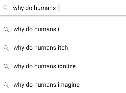why do humans i