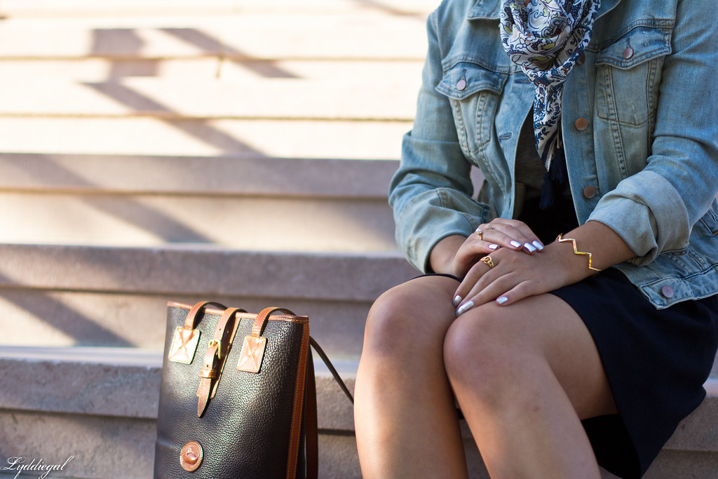 denim jacket, navy skirt, paisley scarf-3.jpg