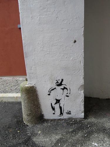 Stencil art by La Staa