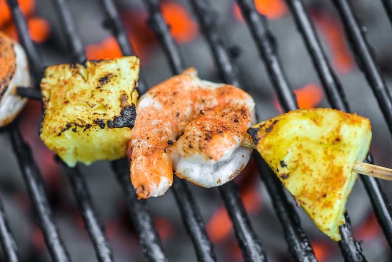 Shrimp & Pineapple Skewers