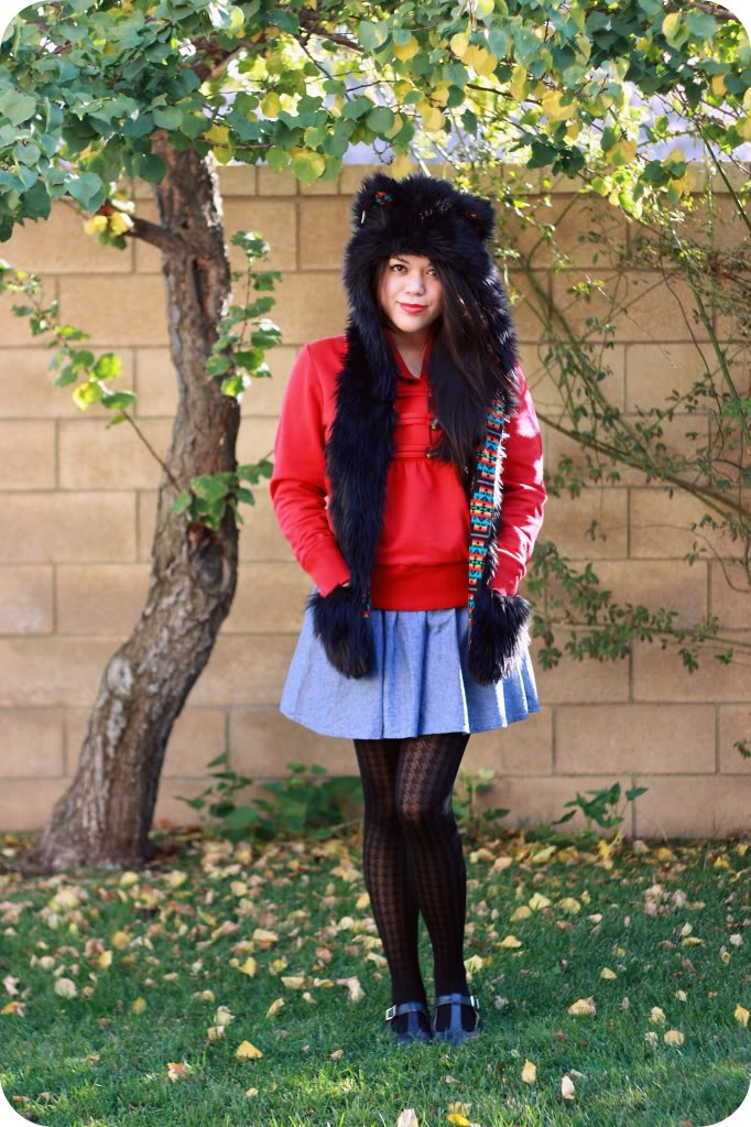 Cute & Easy DIY Halloween Costumes 2015 - Little Red Riding Hood Wolf