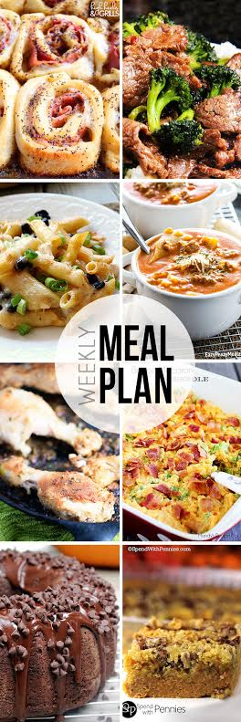 Collaborative weekly meal planning. 9 bloggers. 6 dinner ideas, one weekend breakfast plus 2 desserts every single week equals one heck of a delicious menu! week 16.