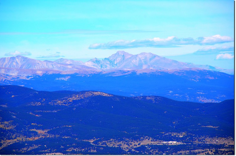 Longs Peak from the summit of Squaw Mountain