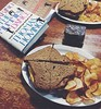 Baby Seahorse Eats // Week 35: Standard Dad/Daughter Book Club Lunch: Ham and cheddar, tarragon mayo, Dijon on rye, kettle chips, brownie to share. With a side of good book and great company.