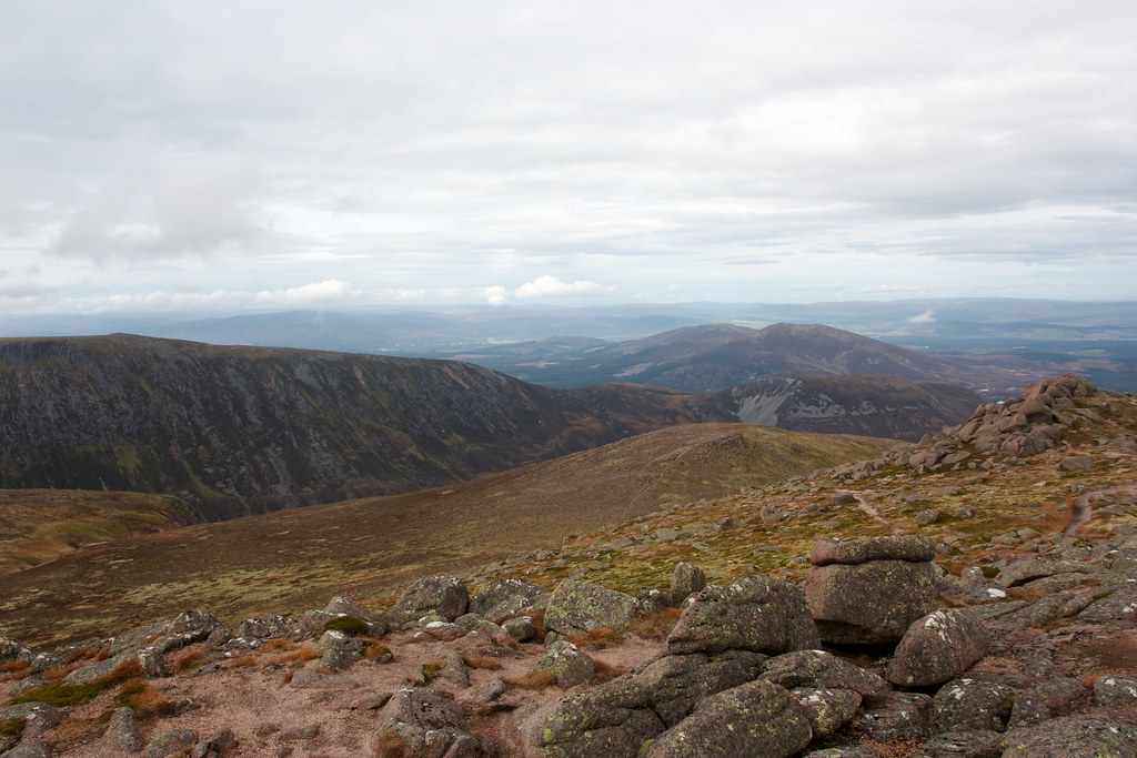 Towards Aviemore from Bynack More