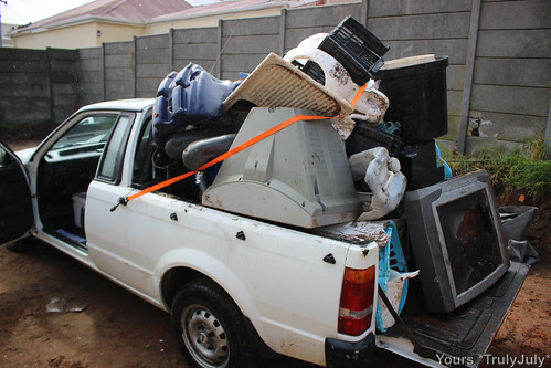Bakkie overload: 4 bakkieloads is what we cleaned up from our neighbouring plots...