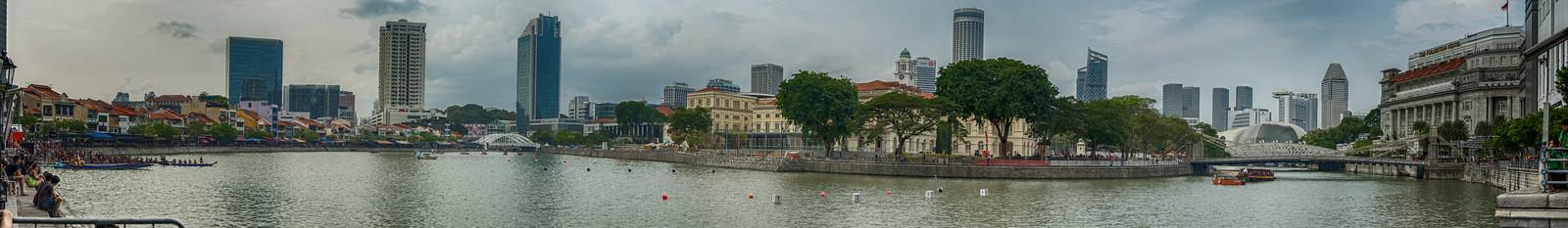 Панорама Singapore River