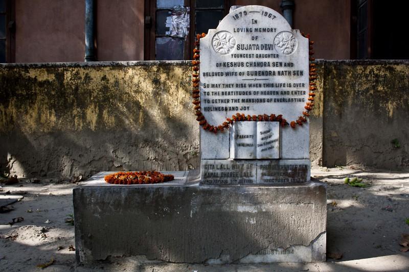 Nabadebalaya - Grave of Sujata Devi - Brahmo Cemetery, Kolkata, India