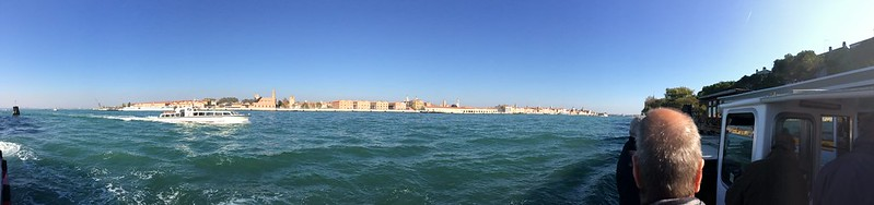 About to dock at Giudecca.