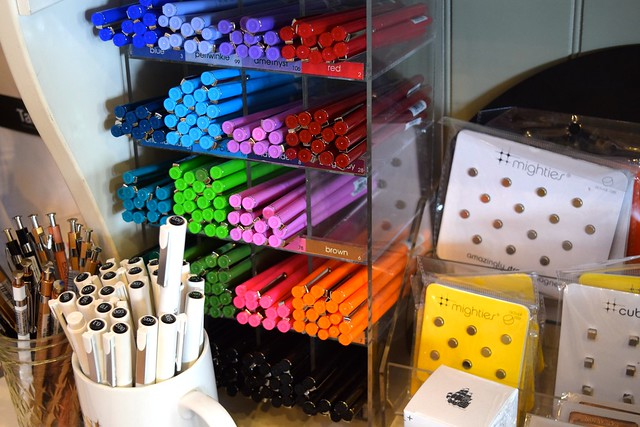 Coloured Pens at Urbanic Paper Boutique, Los Angeles | www.rachelphipps.com @rachelphipps