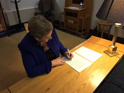 Commencement Order brings new DNA database into operation on 20 November being signed by Minister Frances Fitzgerald