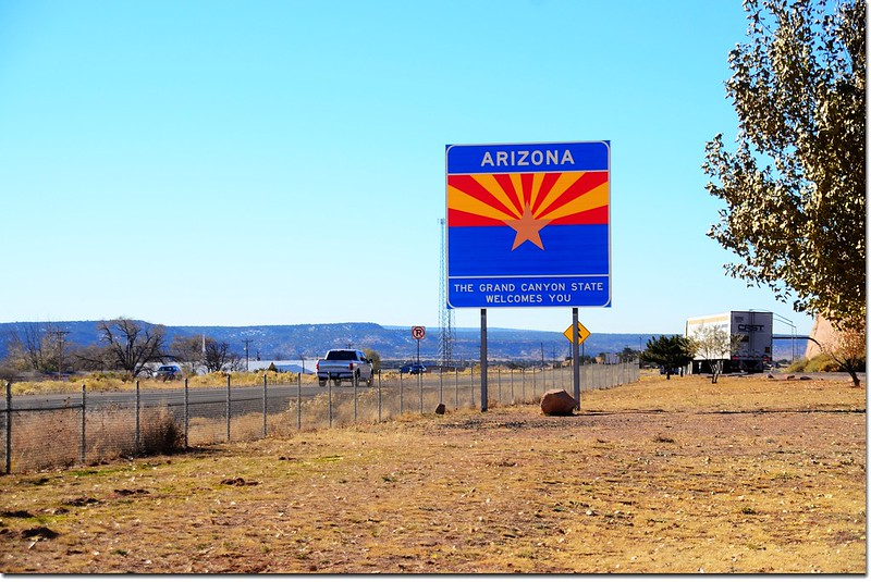 Arizona & New Mexico State Line at I-40