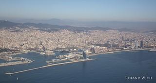 Flying into Barcelona