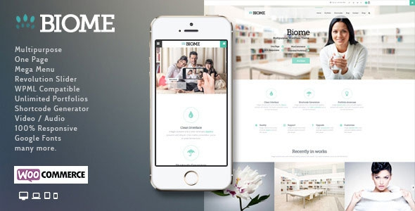 Biome v1.6 – Multipurpose One Page WordPress Theme