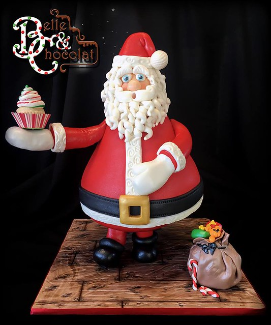 Santa Claus Cake by Isabelle Kingsley of Belle & Chocolat