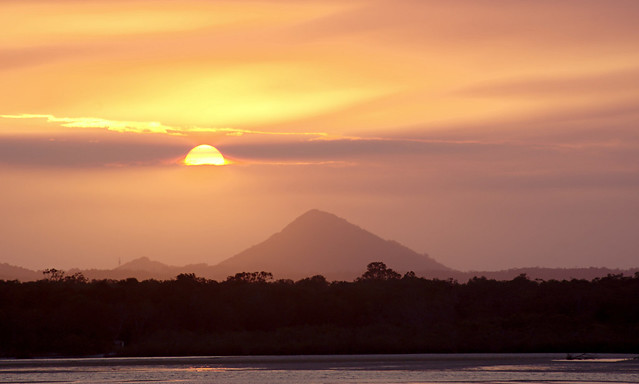 Sunset over Mt Cooroy