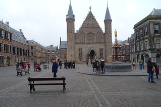 Image of Ridderzaal. 2016 winter sjaak kempe sony dschx60v nederland netherlands niederlande den haag sgravenhage the hague binnenhof ridderzaal dutch government tweede kamer second chamber parliament parlement fontein fountain pierre cuypers holland zuidholland south wonderful world