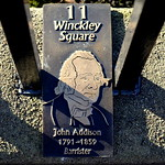 New Plaques around Winckley Square Gardens, Preston