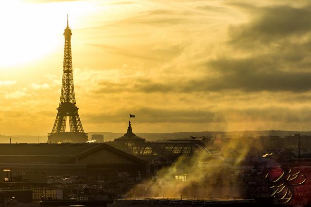 Soir d'hiver à Paris