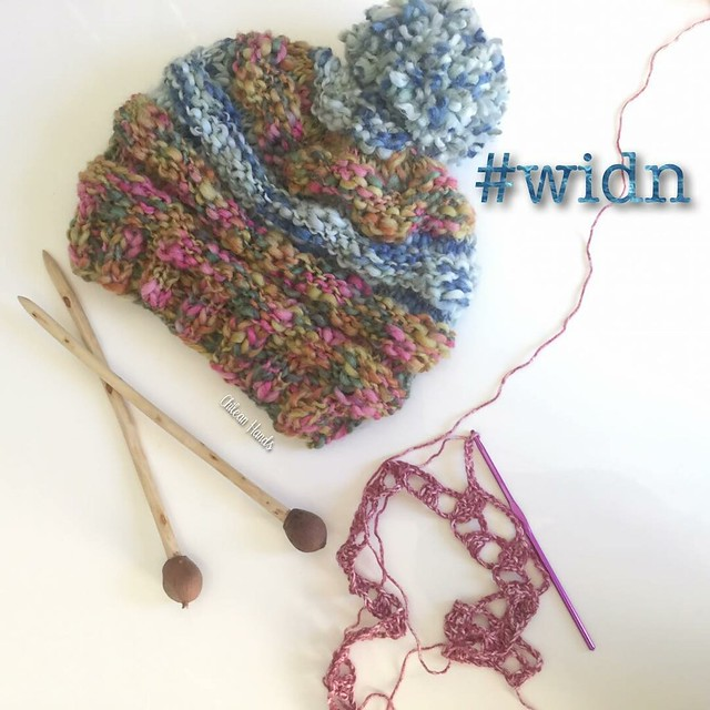 Thanks Alia from @thelittlebeenz for inviting me to show #widn !! I'm glad to say that I finally started and ended a project in one sitting! I made this slouchy as a gift and to make it I used the knitting needles I made!! And they were a pleasure to work