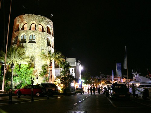 Puerto Banus at night