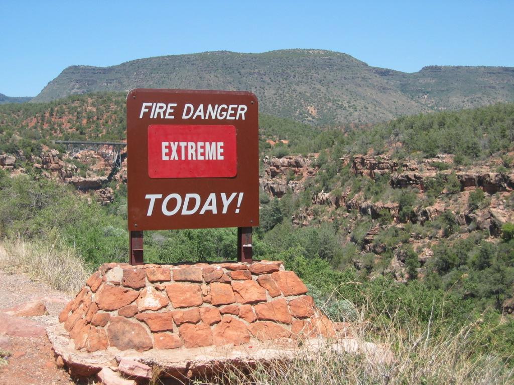 Fire Danger in Sedona