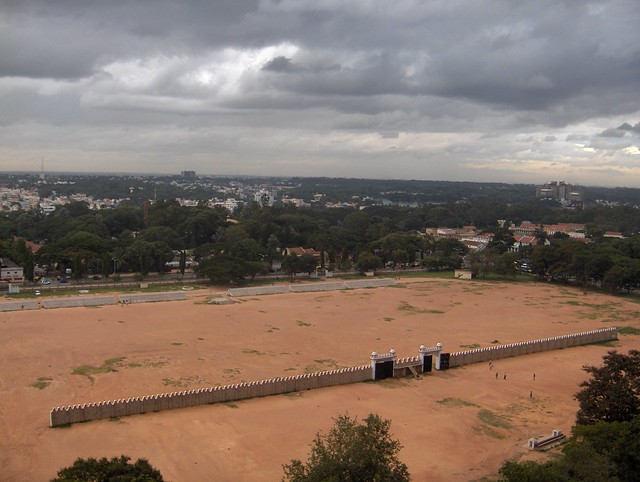 Parade grounds bangalore as seen from ebony restaurant for 13th floor mg road