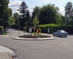 Permanent traffic circle