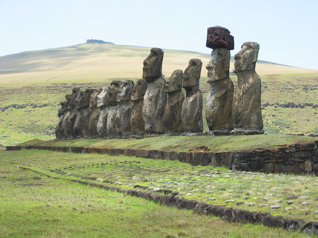Easter Island Carved Stone Heads