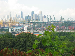 View of the harbour in Singapore