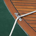 Hessel Antique Wooden Boat Show - Bow chock with line