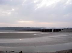 horizon, sand, body of water, mudflat, shore, pier, coast,