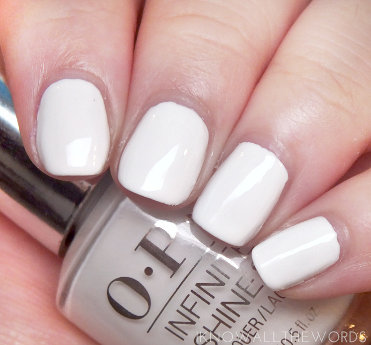 OPI Infinite Shine Soft Shades 2015 Non-Stop White