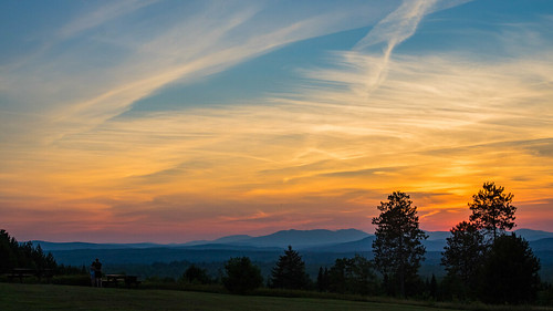 sunset summer mountains maine solon southsolon