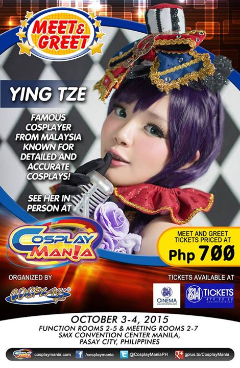 Cosplay Mania Special Guest Meet and Greets Announced! Ying Tze