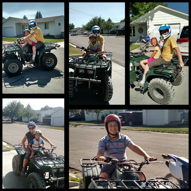 ATV time at grandma's and grandpa's! #ely #nevada #roadtrip2015 @lee_robertson80