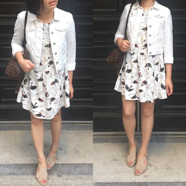 LOFT Linen Cotton Denim Jacket in Antique White