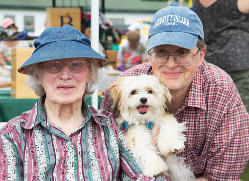 Russ, Mom, and Pip at the Port Wing Fall Festival