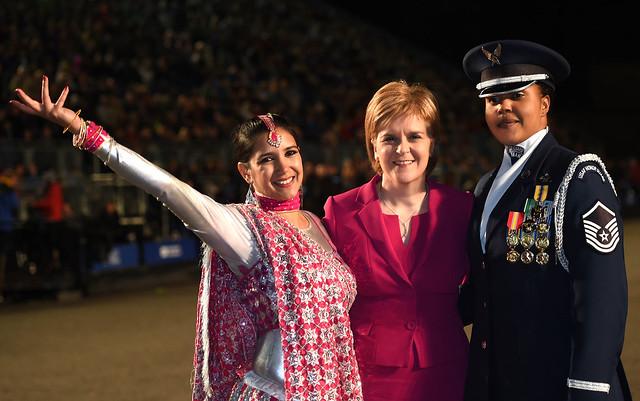 Edinburgh Royal Mililtary Tattoo Salutes Scotland's First Minister Nicola Sturgeon