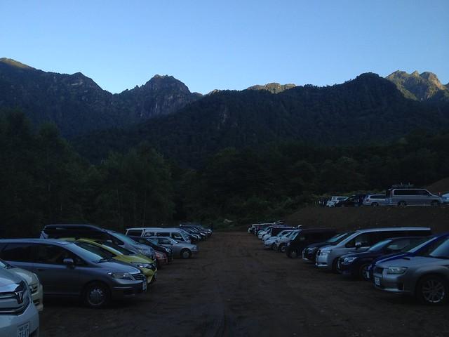 西穂高岳 鍋平駐車場