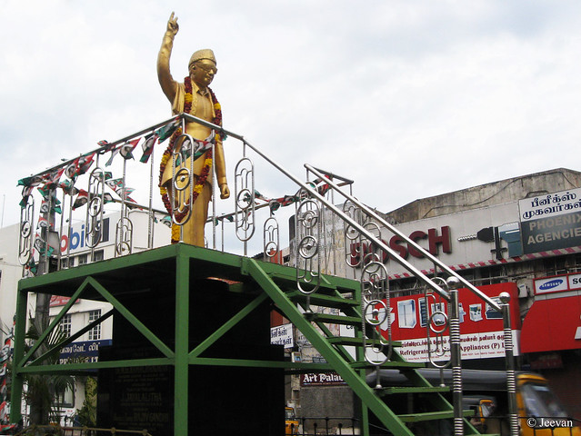 Statue of MGR on Mt.Rd