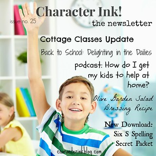 Character Ink! Newsletter no. 25